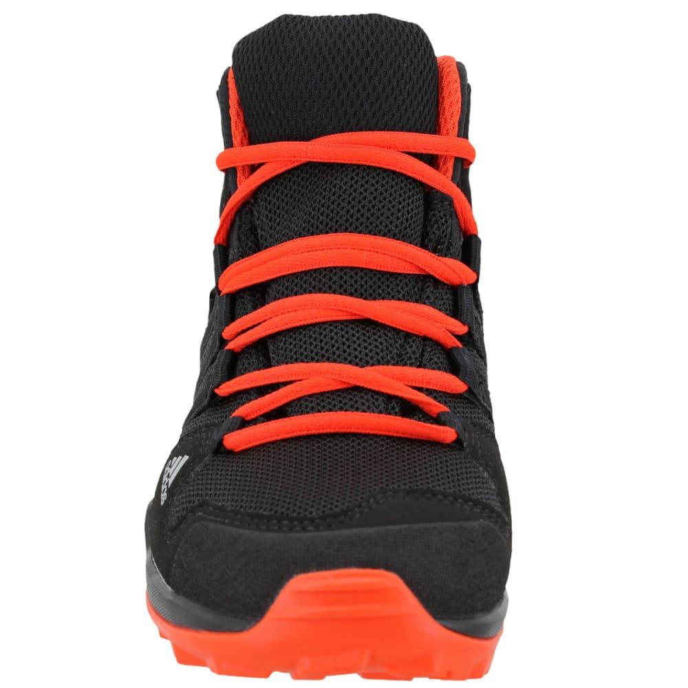 ADIDAS Kids' AX2R Mid Hiking Shoes, Core Black/Core Black/Energy - BLACK/BLACK/ENERGY