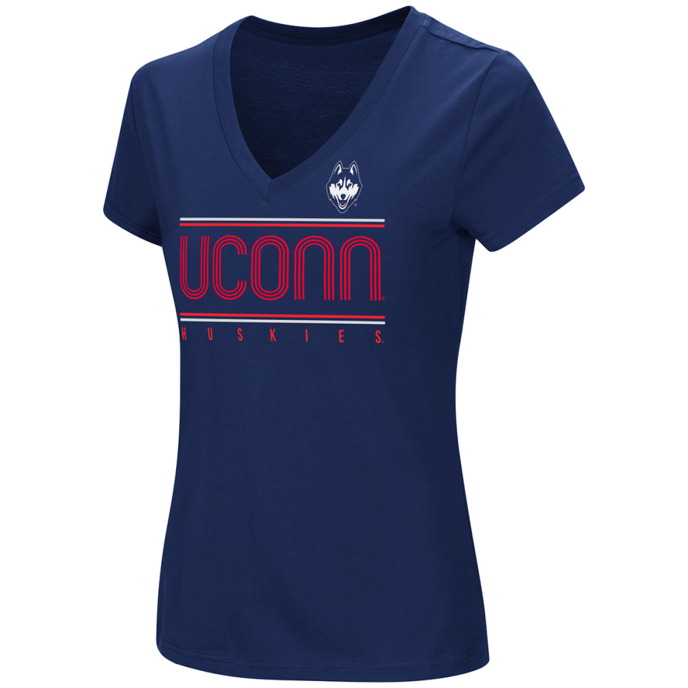 Uconn Women's How Good Am I V-Neck Short-Sleeve Tee - Blue, S