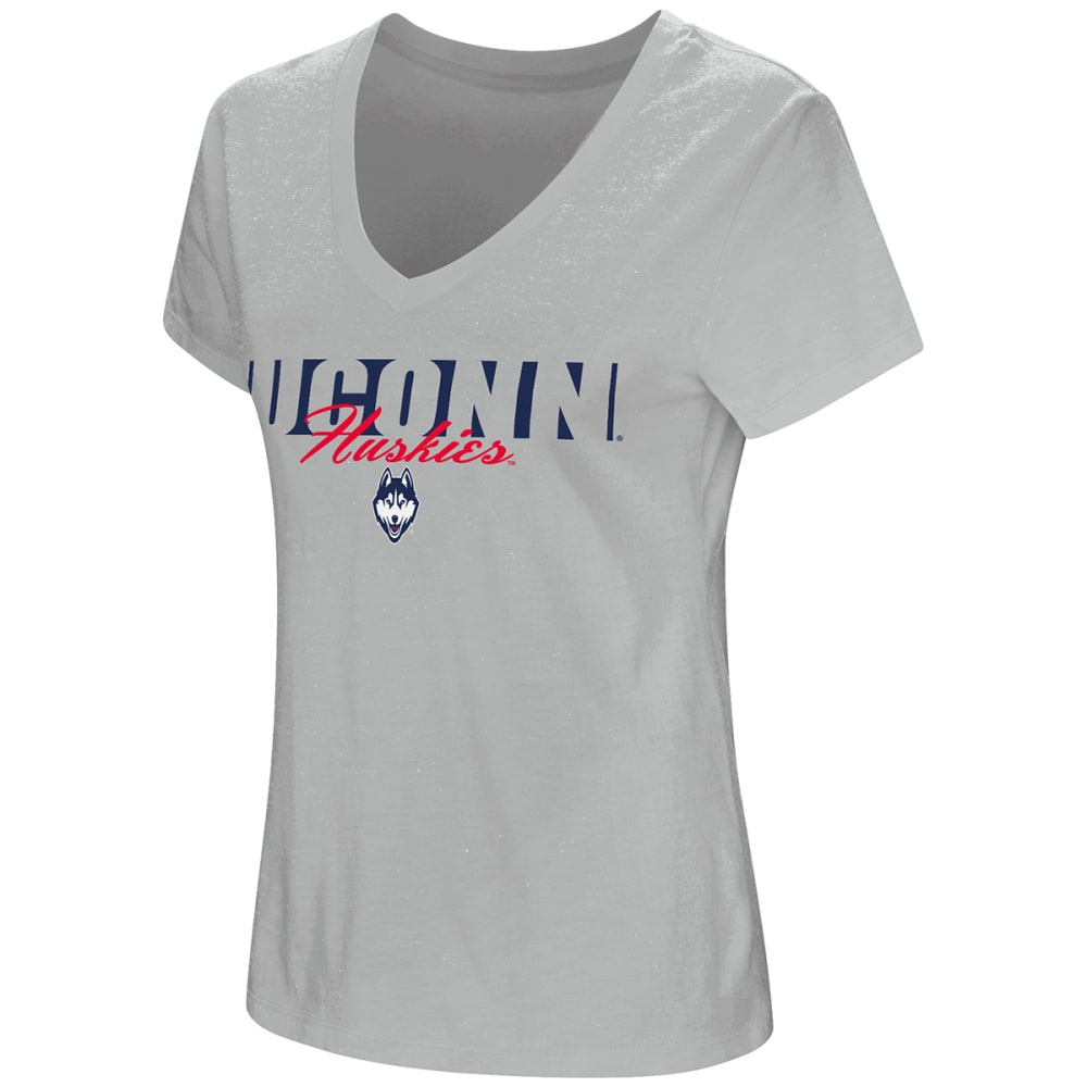 UCONN Women's A League Of Their Own V-Neck Short-Sleeve Tee - GREY
