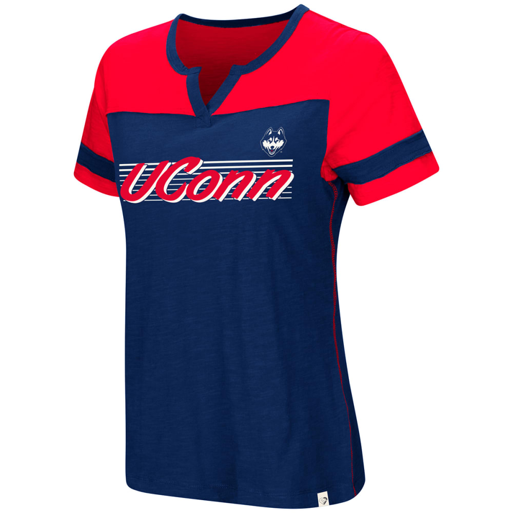 UCONN Women's Coach V-Notch Short-Sleeve Tee - NAVY