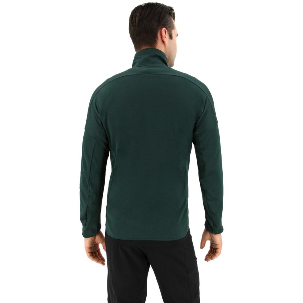 ADIDAS Men's Terrex Tivid Half Zip Fleece Jacket - GREEN NIGHT