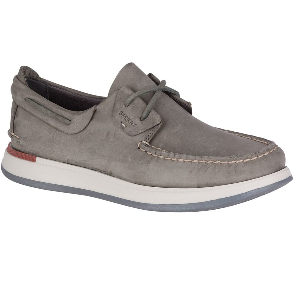SPERRY Men's Caspian Leather Boat Shoes - GREY
