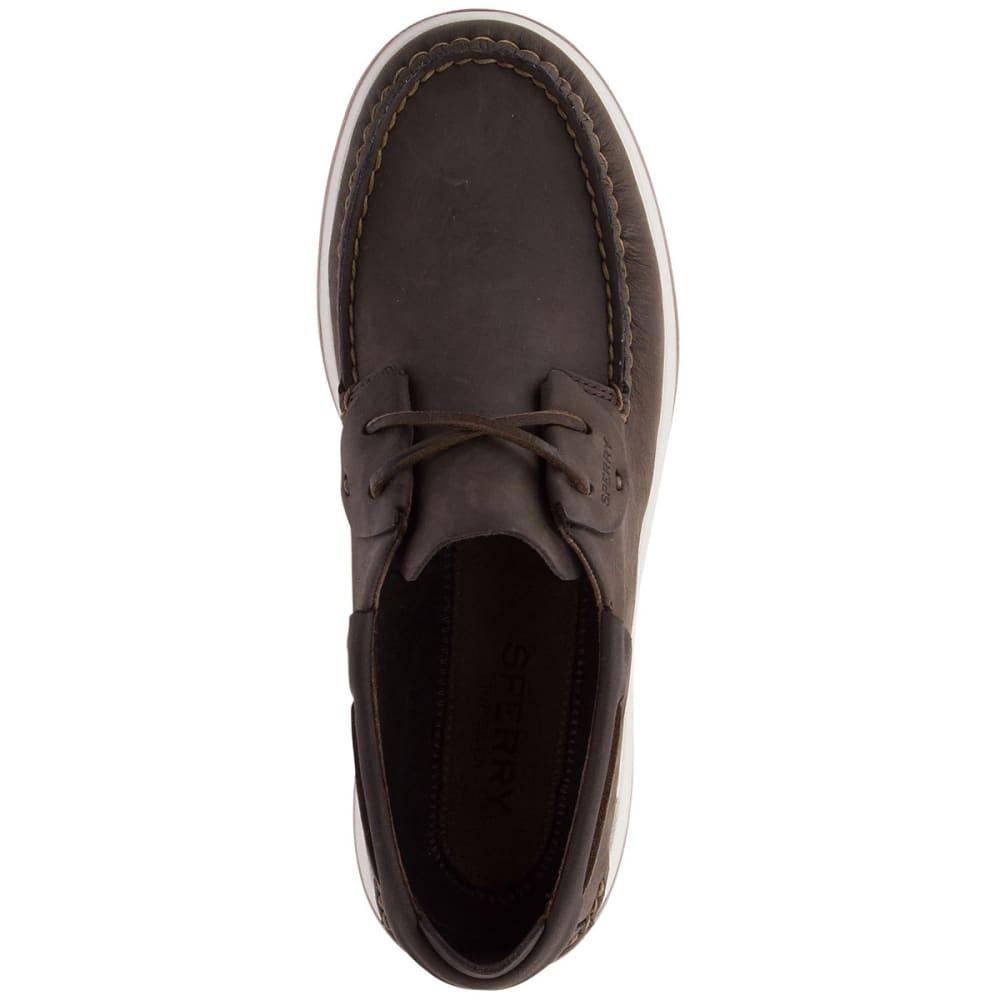 SPERRY Men's Caspian Leather Boat Shoes - BROWN