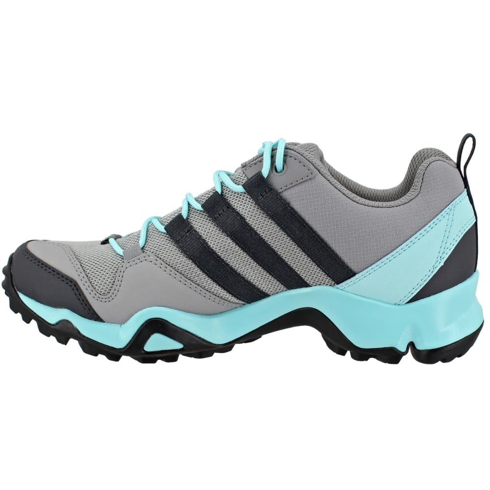 ADIDAS Women's Terrex AX2R Hiking Shoes, CH Solid Grey/DGH Solid Grey/Clear Aqua - GREY/GREY/AQUA