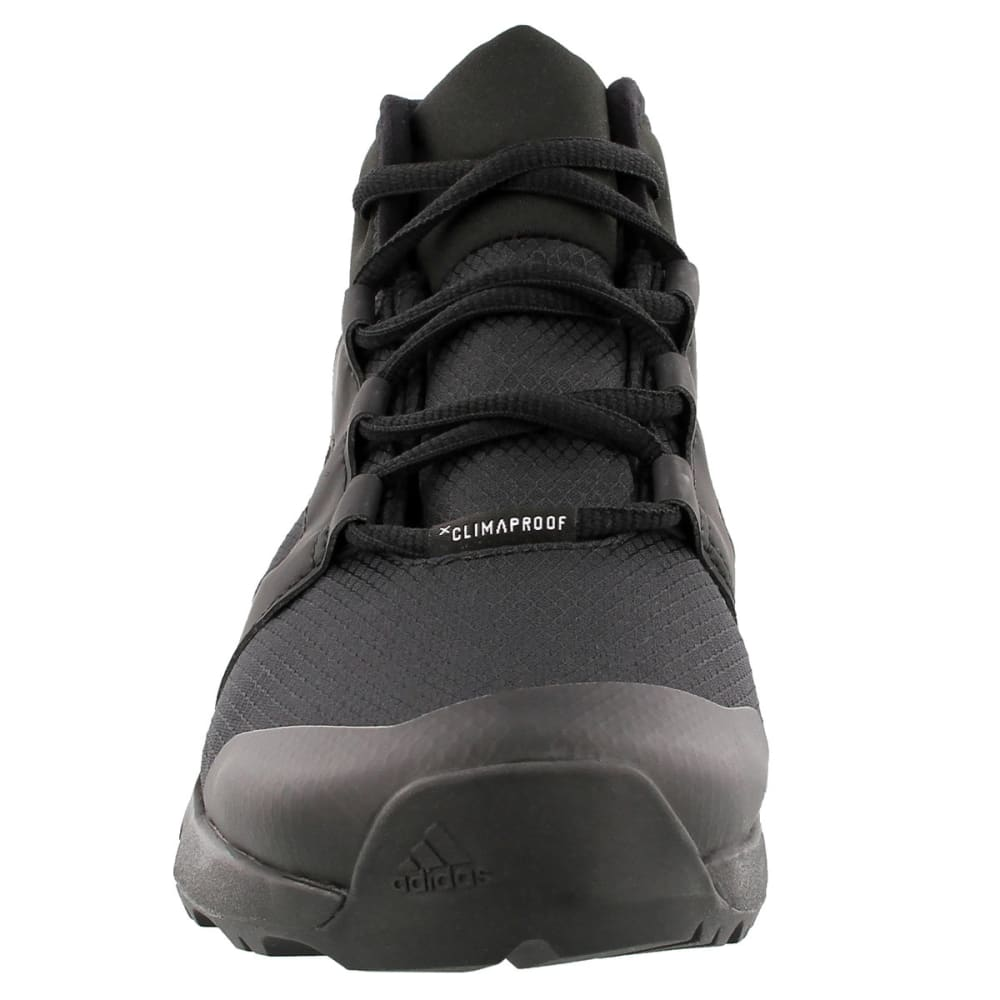 ADIDAS Women's Terrex Voyager CW CP Mid-Cut Hiking Shoes, Black/Black/Chalk White - BLACK/BLACK/WHITE