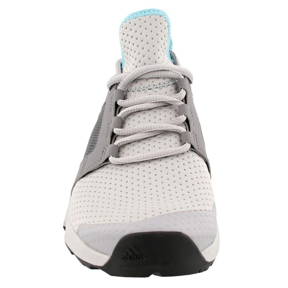 ADIDAS Women's Terrex Voyager DLX Hiking Shoes, Grey Two/Grey Four/Chalk White - GREY/GREY/WHITE