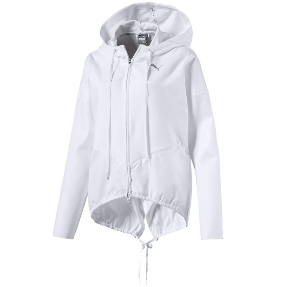 Puma Women's Transition Full-Zip Hoodie - White, S