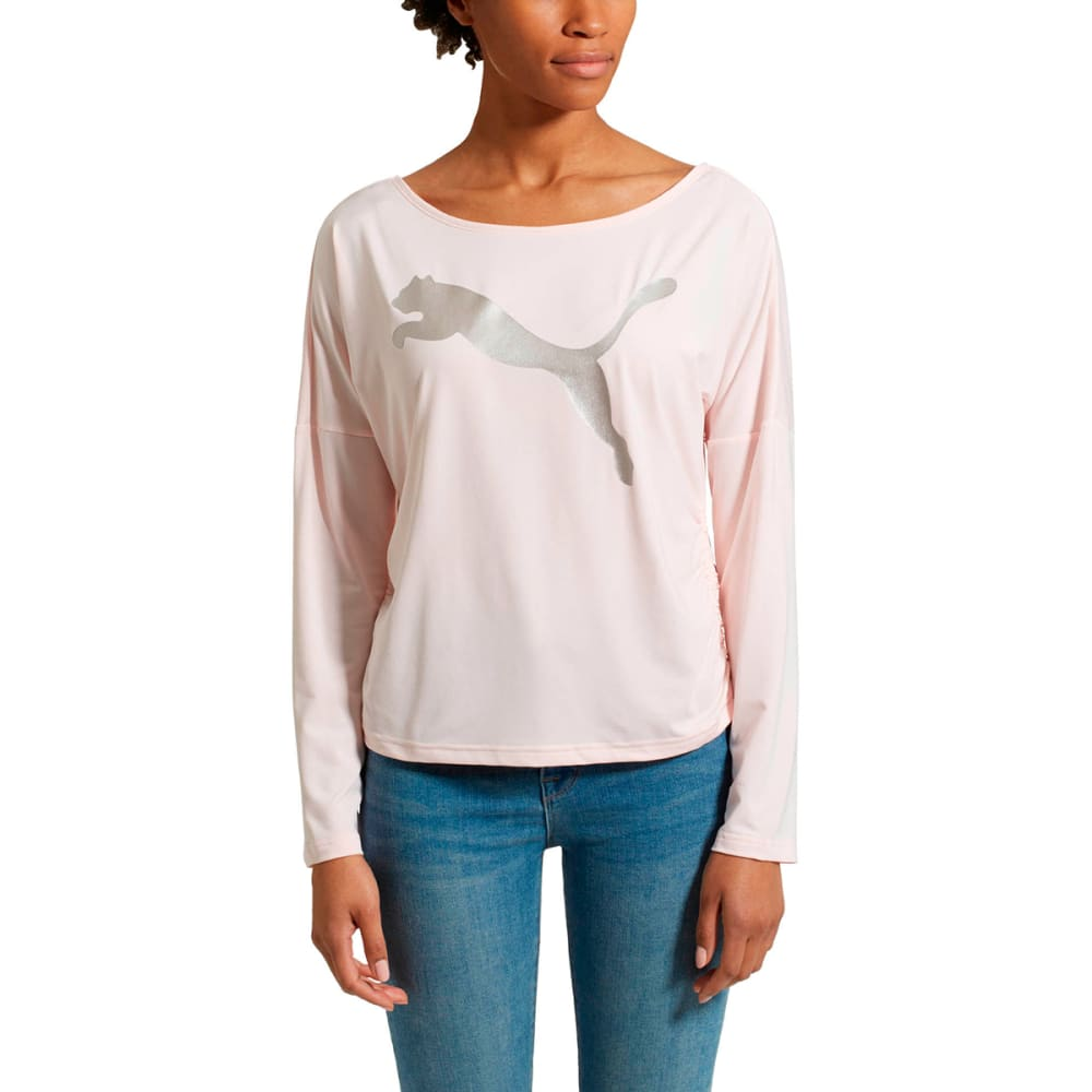 PUMA Women's Transition Light Long-Sleeve Cover-Up Top - PEARL-36