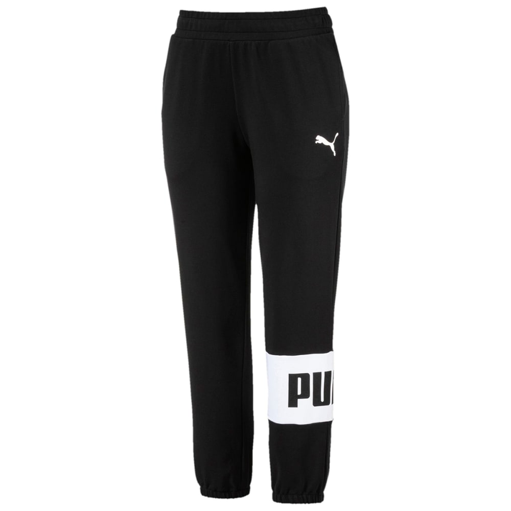 PUMA Women's Urban Sports Sweatpants - COTTON BLACK-01