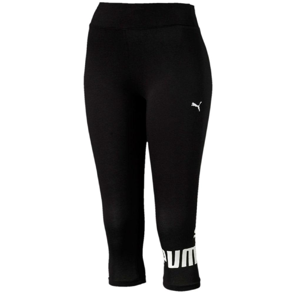 PUMA Women's Style No.1 Logo ¾-Length Leggings - COTTON BLACK-01