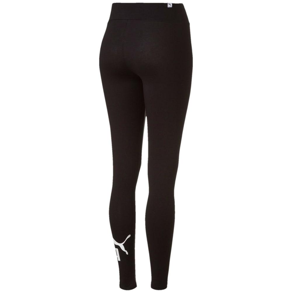 PUMA Women's Style No.1 Logo Leggings - COTTON BLACK-01