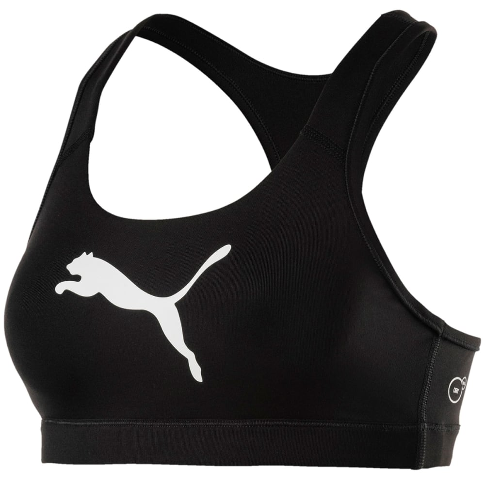 Puma Women's Training Pwrshape Forever Logo Sports Bra - Black, S
