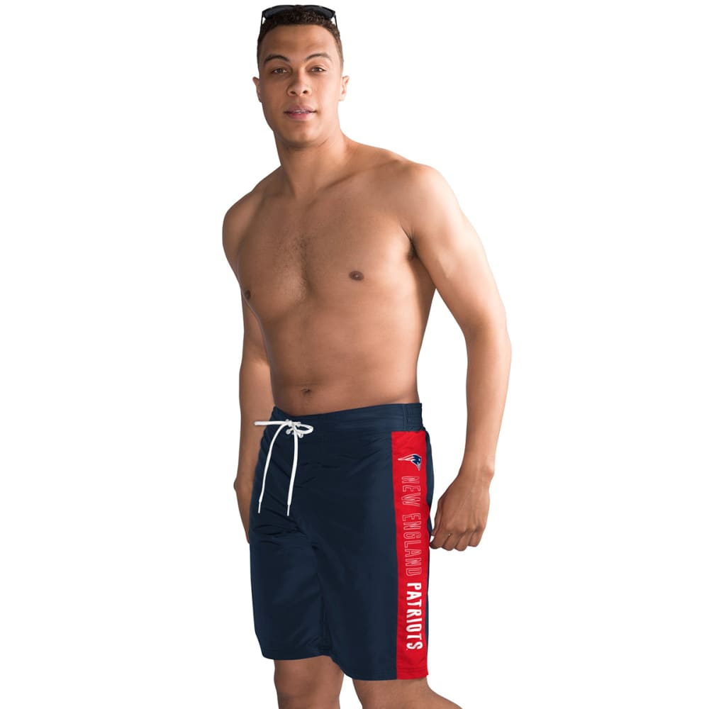 NEW ENGLAND PATRIOTS Men's Home Run Swim Trunks - NAVY