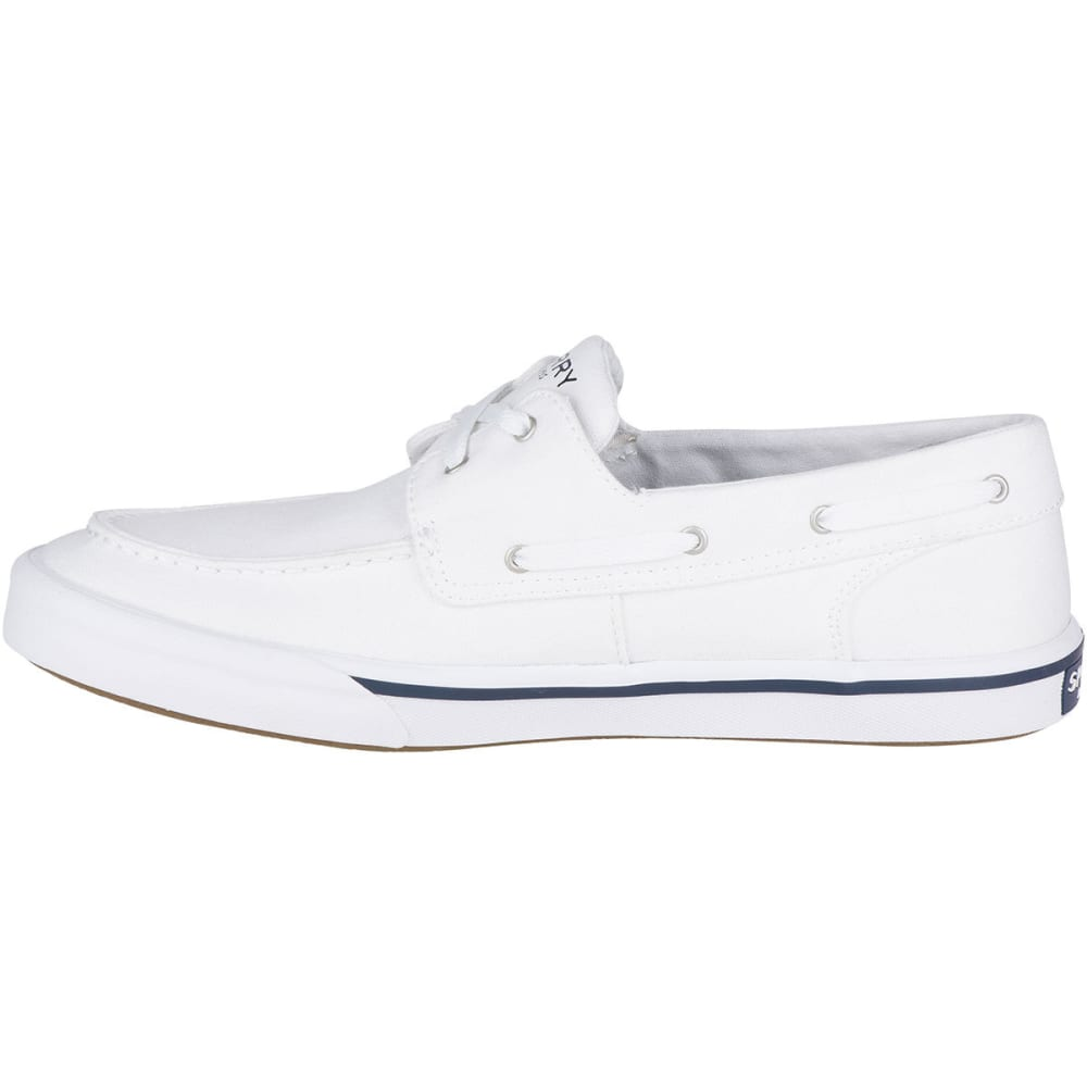SPERRY Men's Bahama II Boat Washed Boat Shoes - WHITE