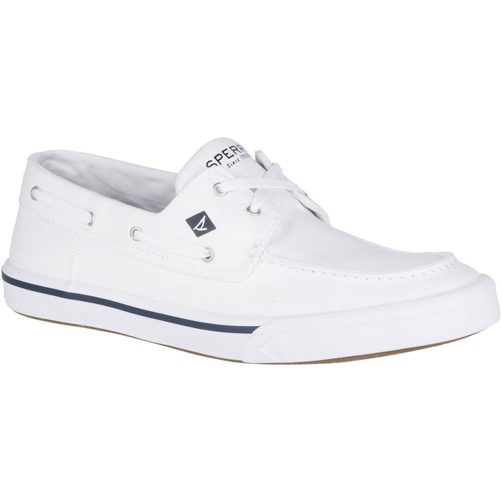 Sperry Men's Bahama Ii Boat Washed Boat Shoes - White, 8.5