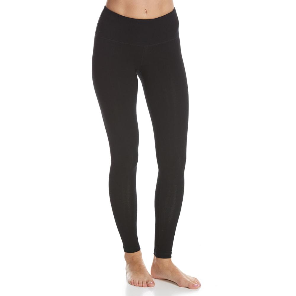 90 DEGREES Women's High Waist Leggings - BLACK