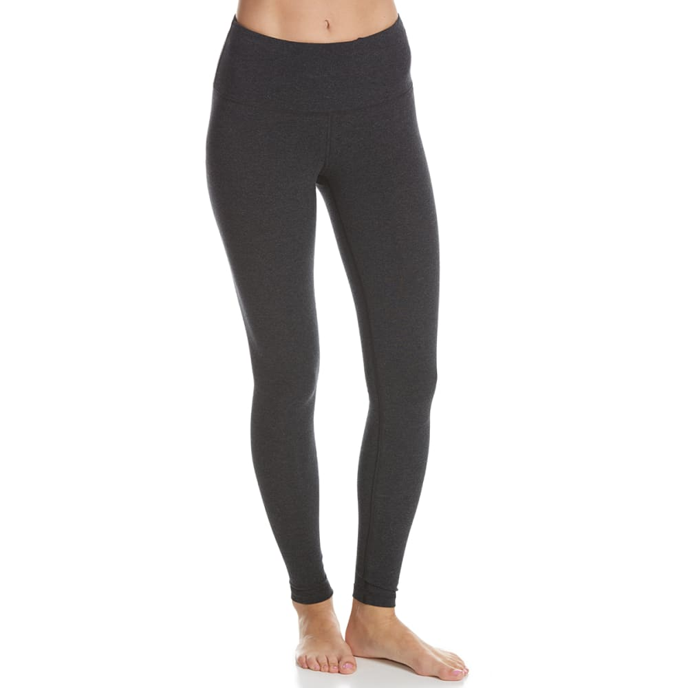 90 DEGREES Women's High Waist Leggings - HEATHER CHARCOAL