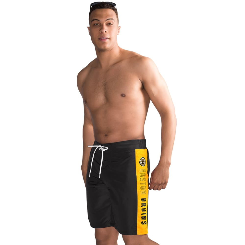 BOSTON BRUINS Men's Home Run Swim Trunks - BLACK