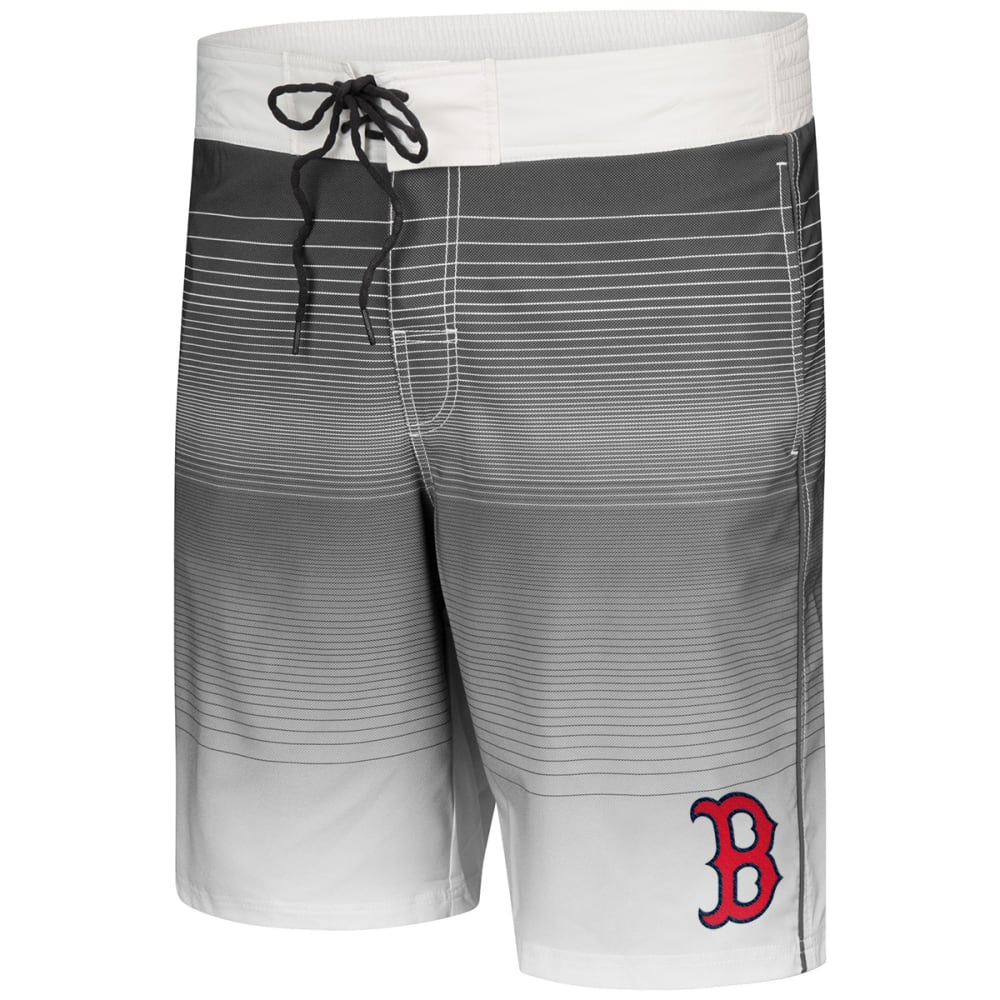 BOSTON RED SOX Men's Defense Stripe Swim Trunks - NAVY
