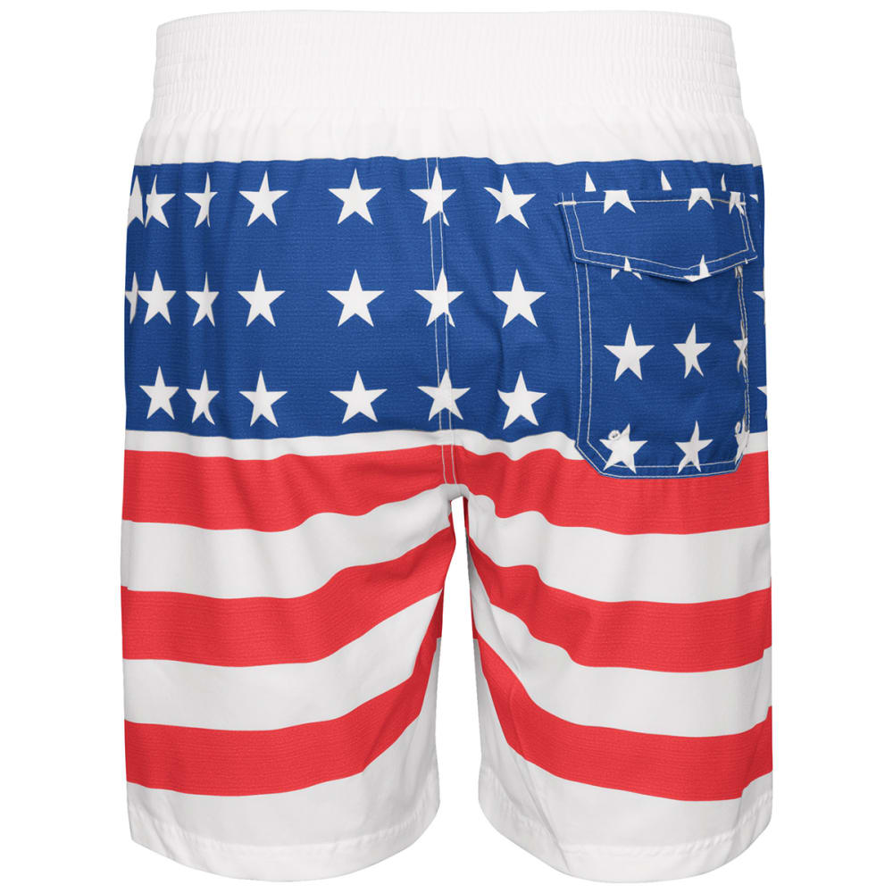 NEW YORK YANKEES Men's Patriotic Swim Trunks - RED WHITE BLUE