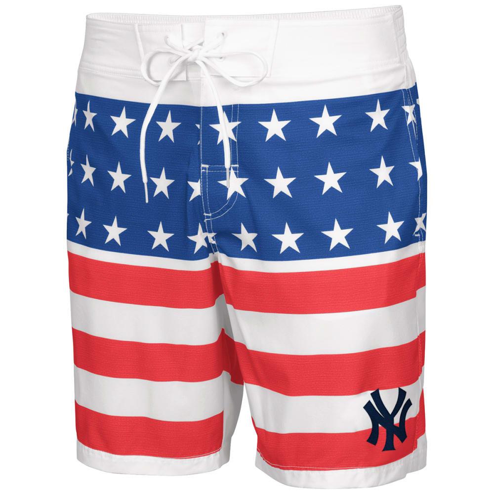 NEW YORK YANKEES Men's Patriotic Swim Trunks - RED WHITE BLUE