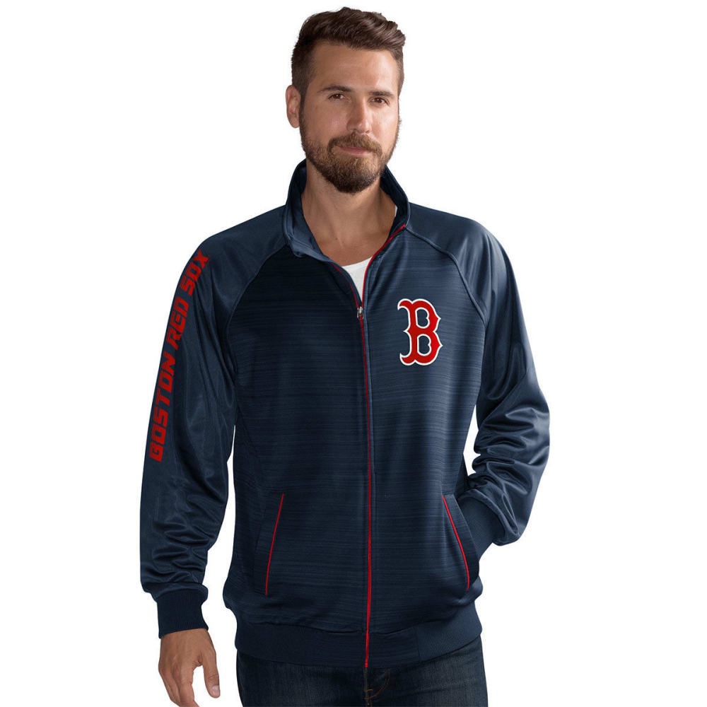 BOSTON RED SOX Men's Crossbar Space-Dye Track Jacket - NAVY