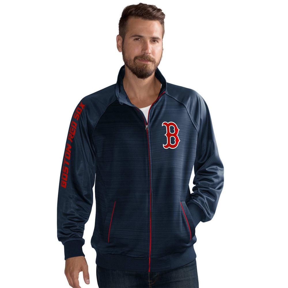BOSTON RED SOX Men's Crossbar Space-Dye Track Jacket - NAVY