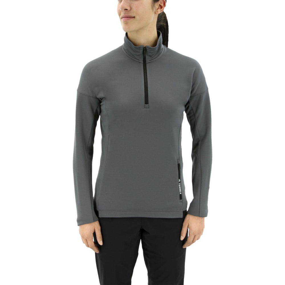 Adidas Women's Tivid Half Zip Fleece Jacket - Black, L