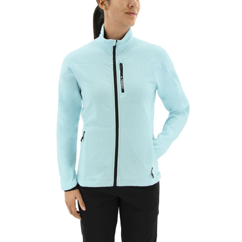 ADIDAS Women's Tivid Fleece Jacket - CLEAR AQUA