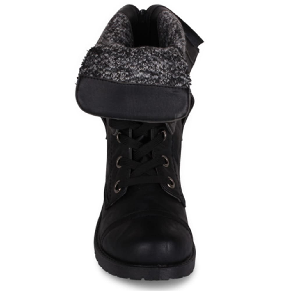 WANTED Women's Colorado Combat Boots, Black - BLACK