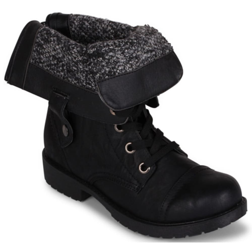 WANTED Women's Colorado Combat Boots, Black - BLACK