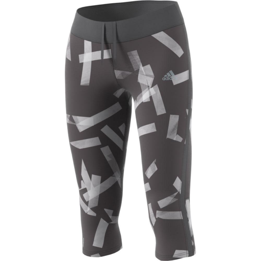 Adidas Women's Response Three-Quarter Running Tights - Black, XL