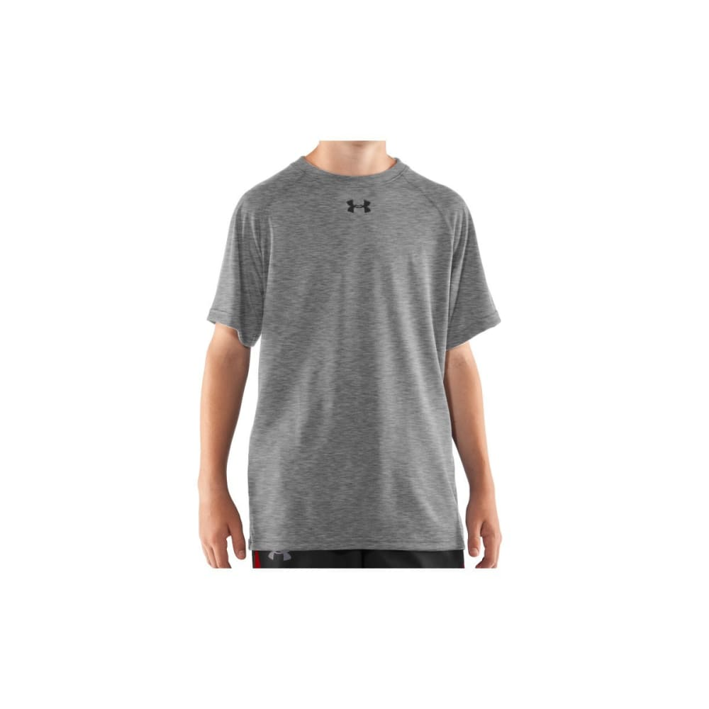 UNDER ARMOUR Boys' Locker Short Sleeve Shirt - GREY-025
