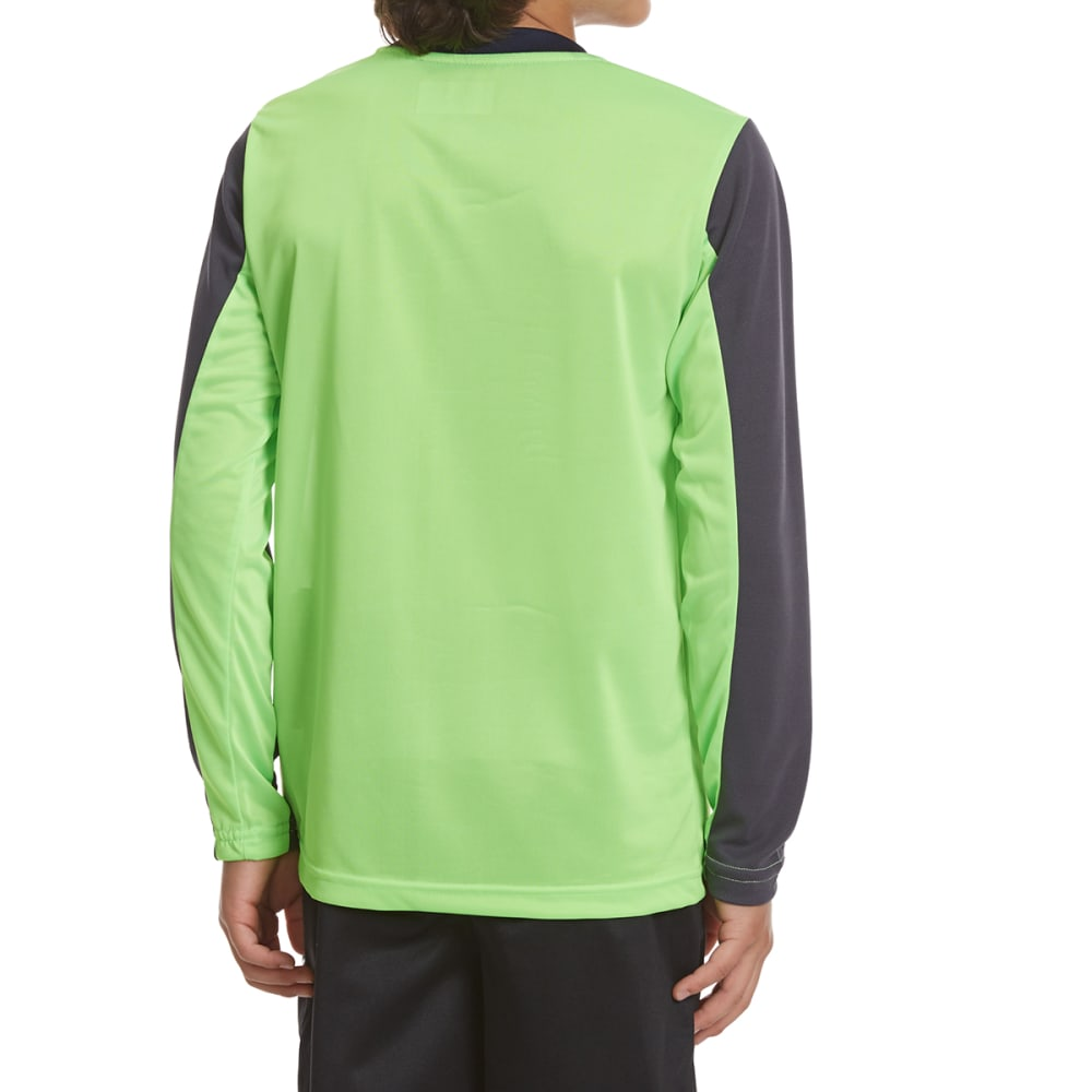 RBX Boys' Performance Long-Sleeve Graphic Active Tee - NEON GREEN