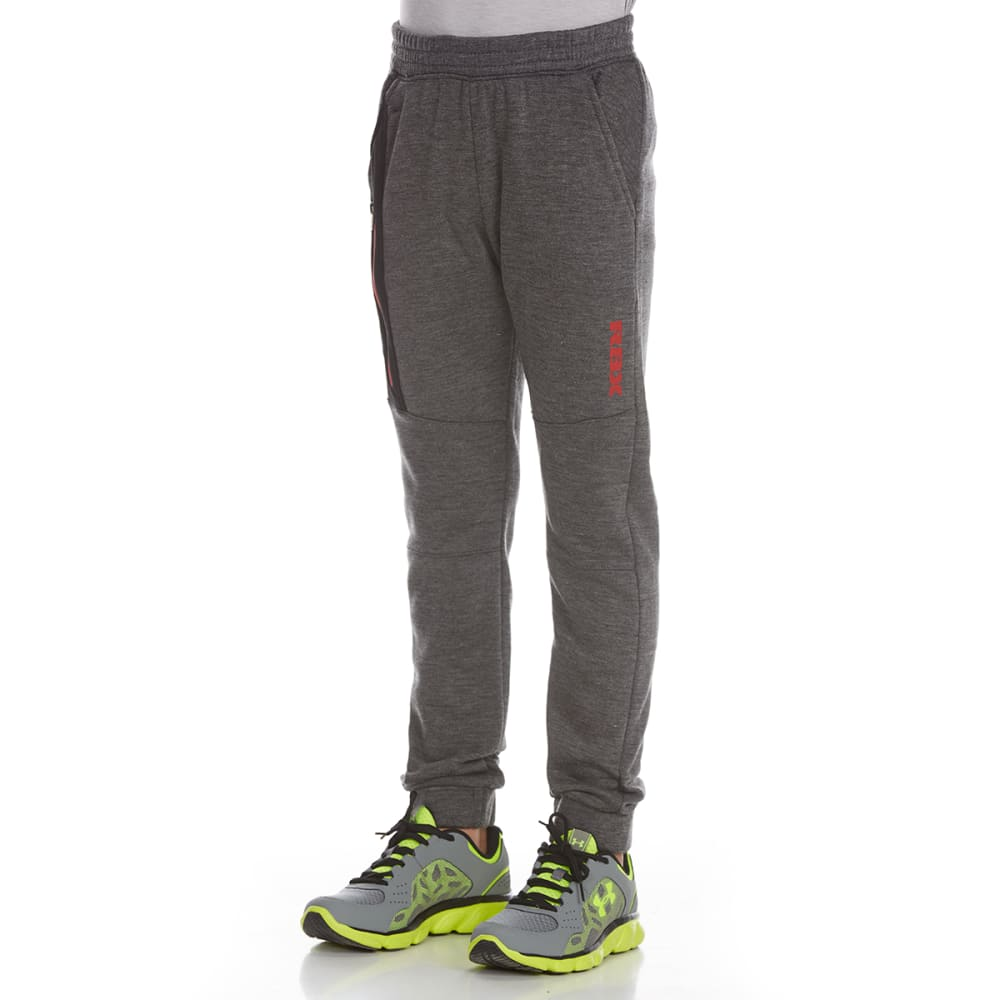 RBX Boys' Poly Tech Fleece Defender Pants - CHARCOAL HEATHER