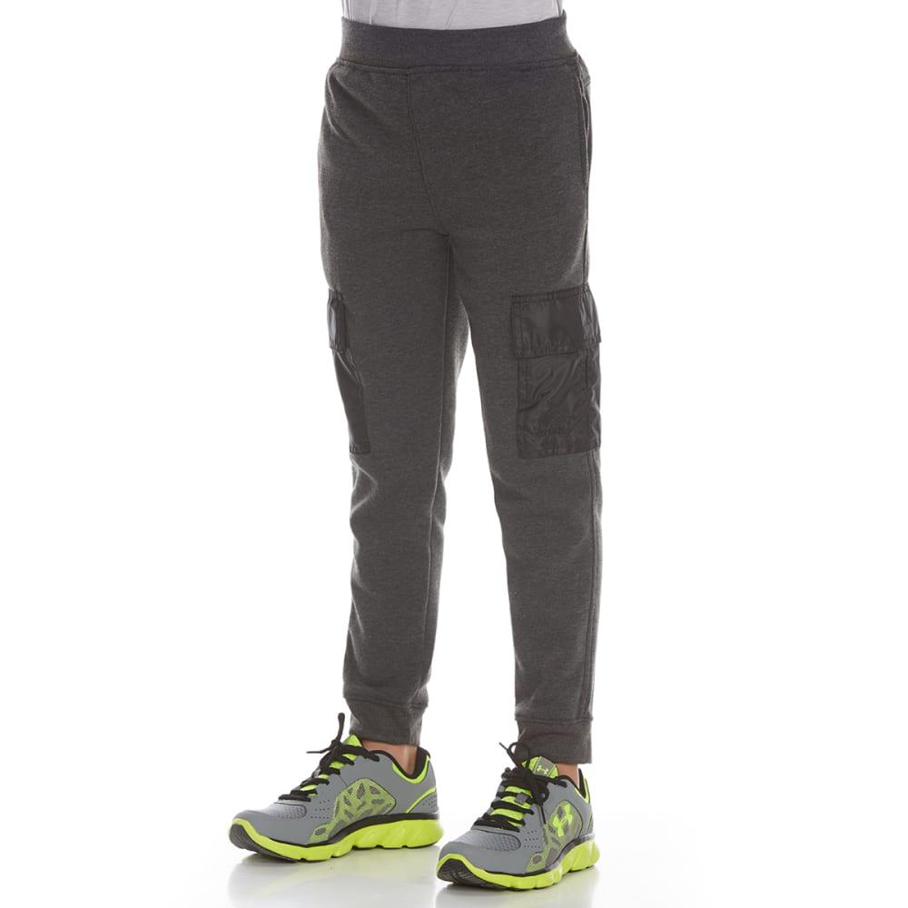 RBX Boys' Fleece Cargo Jogger Pants - CHARCOAL HEATHER