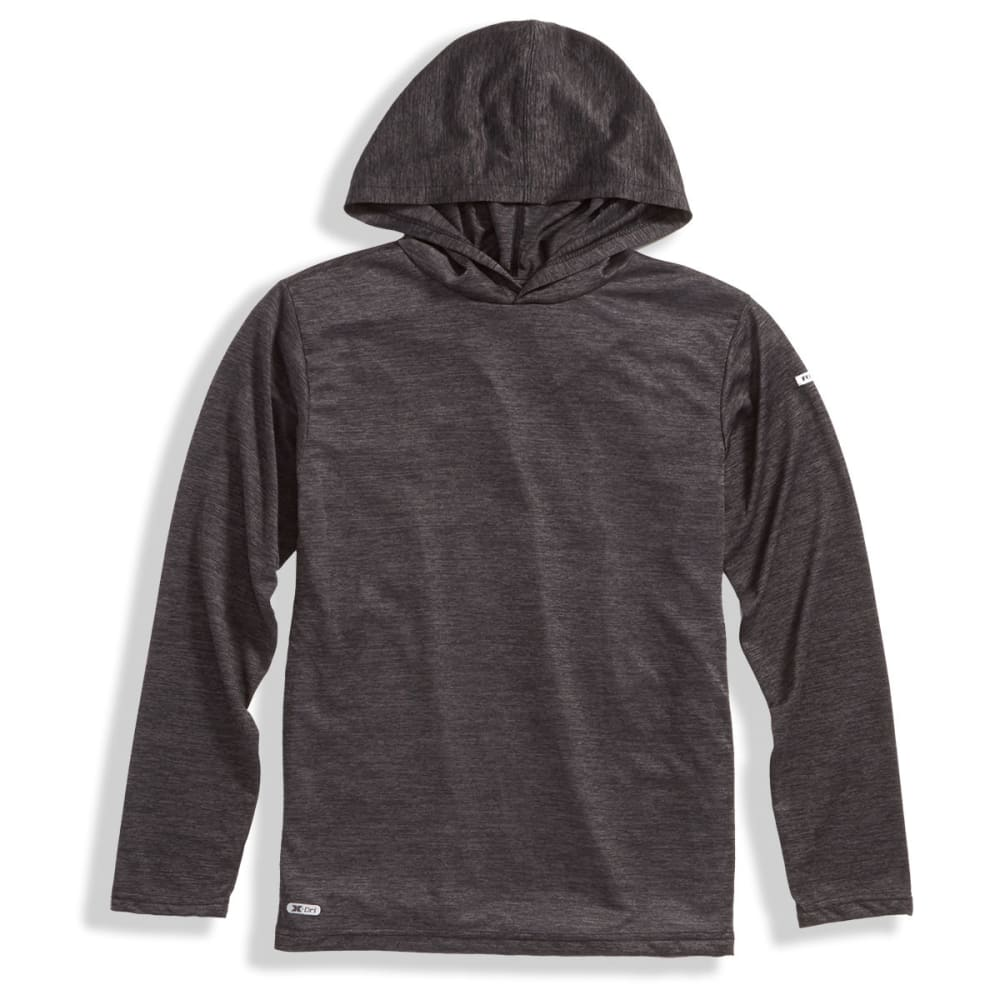RBX Big Boys' Active Hooded Long-Sleeve Tee - MIDNIGHT