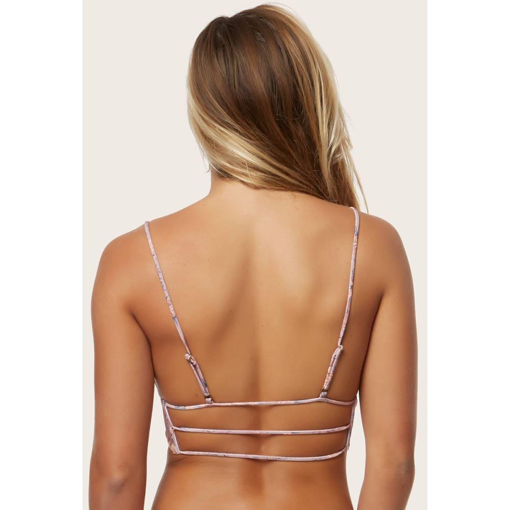 O'NEILL Juniors' Calvin Floral Mid Bralette Bikini Top - NAT-NATURAL