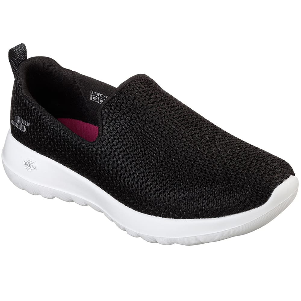 SKECHERS Women's GOwalk Joy Casual Slip-On Shoes - BLACK/WHITE
