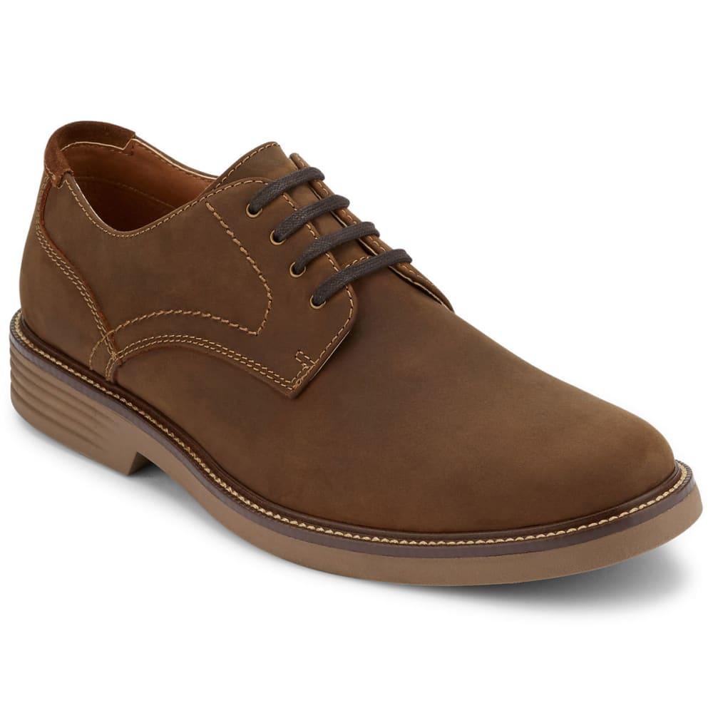 DOCKERS Men's Parkway Plain Toe Derby Shoes, Brown - BROWN
