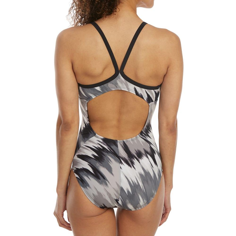 NIKE Women's Immiscible Print Racerback Sport One-Piece Swimsuit - 001-BLACK