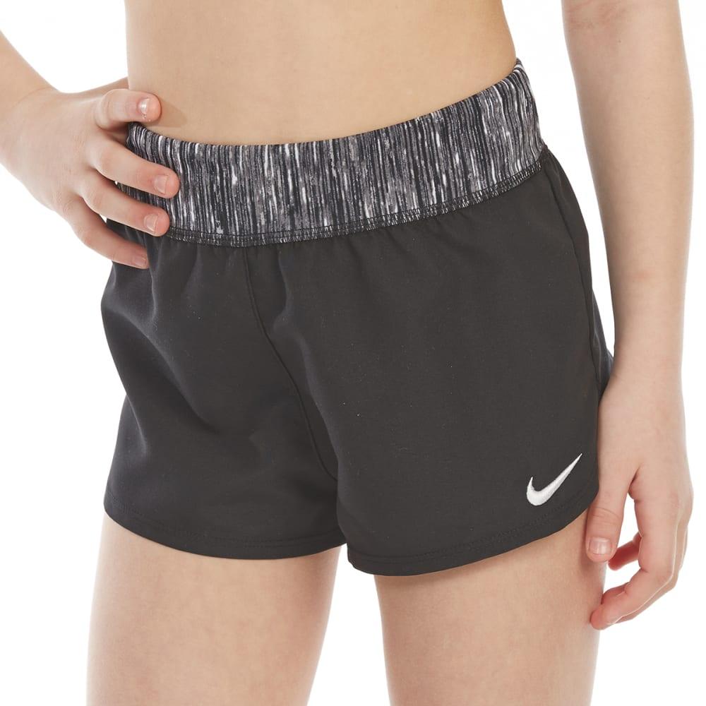 NIKE Big Girls' Cover-Up Swim Shorts - 001-BLACK