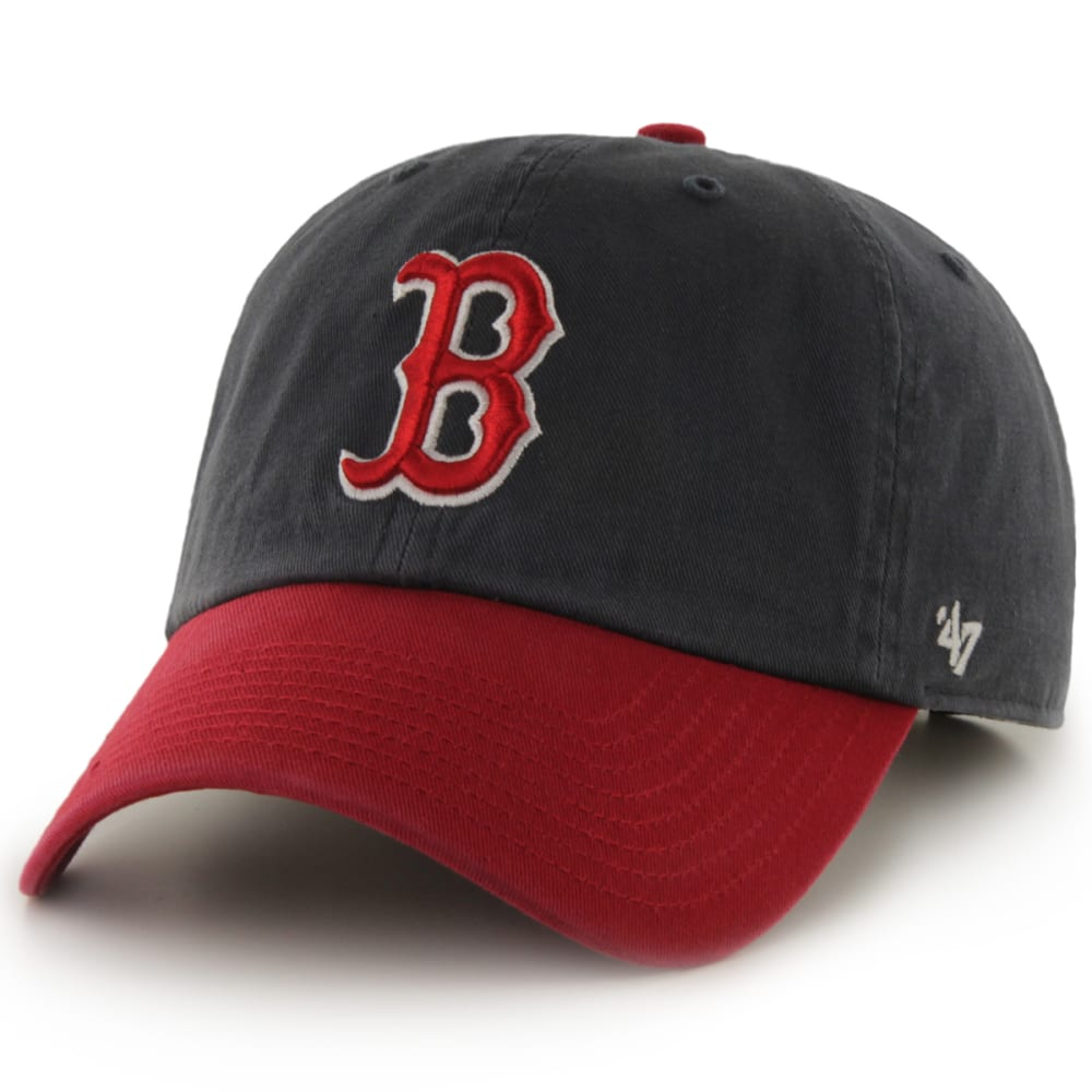 BOSTON RED SOX Men's Two-Tone '47 Clean Up Adjustable Cap - NAVY/RED