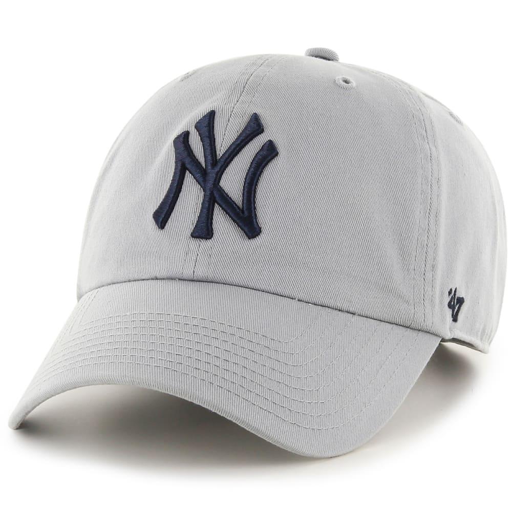 NEW YORK YANKEES Men's '47 Clean Up Adjustable Cap - GREY