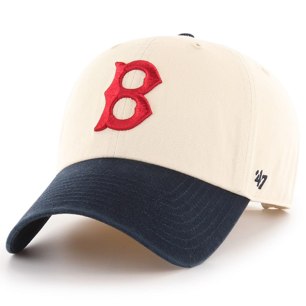 BOSTON RED SOX Men's Two-Tone Cooperstown '47 Clean Up Adjustable Cap - WHITE/NAVY