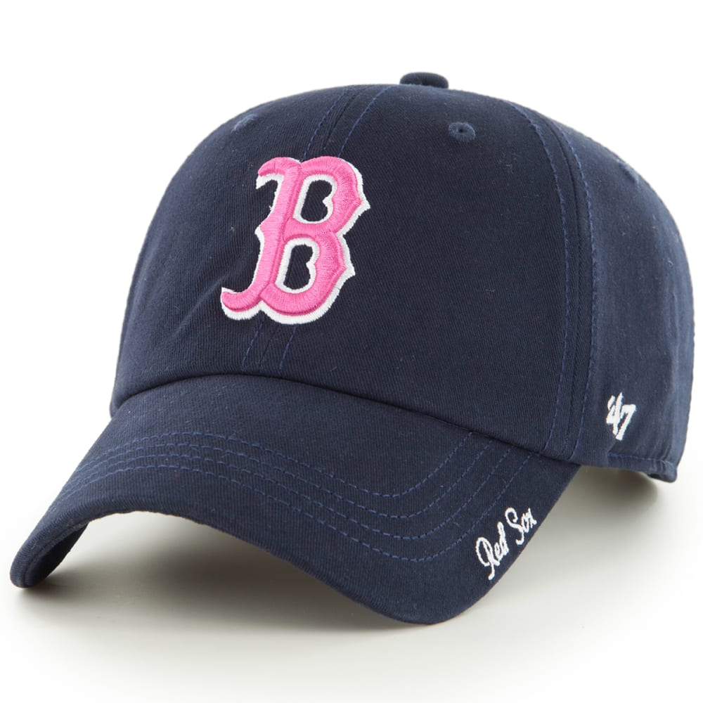 BOSTON RED SOX Women's Miata '47 Clean Up Adjustable Cap - NAVY/PINK