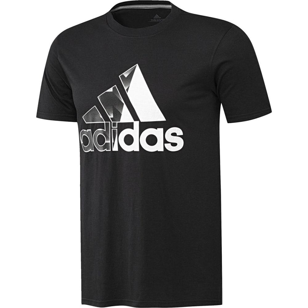ADIDAS Men's Badge of Sport Split Fill Short-Sleeve Tee - BLACK/WHITE-CF8290