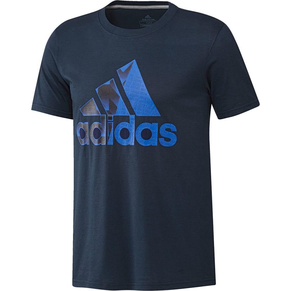 Adidas Men's Badge Of Sport Split Fill Short-Sleeve Tee - Blue, XL