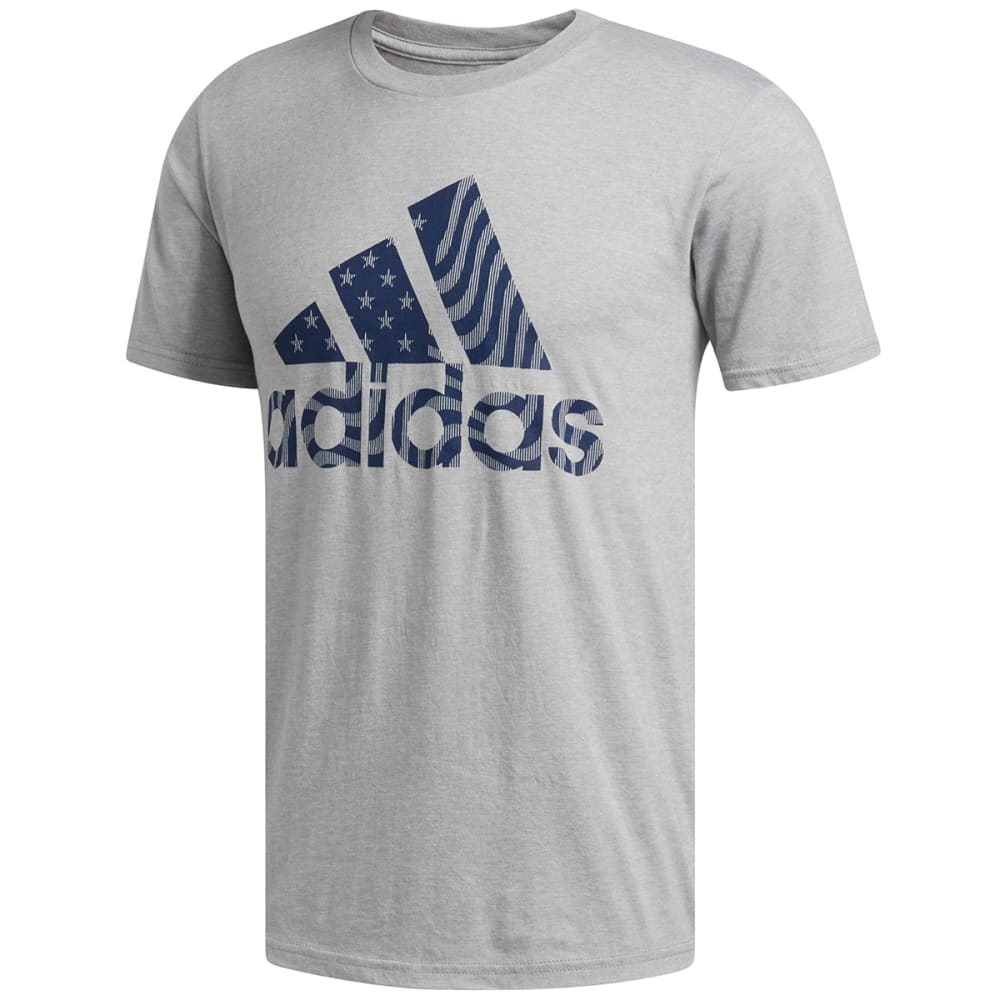 Adidas Men's Badge Of Sport American Fill Short-Sleeve Tee - Black, S