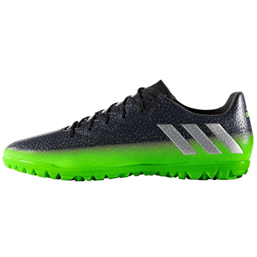ADIDAS Men's Messi 16.3 Turf Soccer Cleats, Dark Grey/Green - BLACK/GREEN